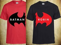 Couples Printed Tshirt Batman And Robin Shirt on Etsy, $40.00