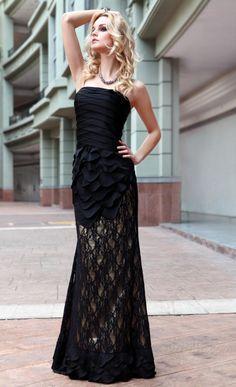 幻想的なマーメイドレースイブニング/パーティードレス ストラップレス床長さ 1916839 - パーティー イブニングドレス - Dresswe.Com