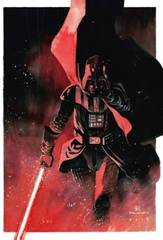 Star Wars: Darth Vader by Dike Ruan * - Art Vault Star Wars Characters, Comic Book Characters, Fictional Characters, Star Wars Jedi, Star Wars Art, Darth Vader Artwork, Space Battles, Batman Vs Superman, Custom Action Figures
