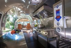 The inside of our Airstream food truck. We are on the road Spring, Summer, and Fall Interior Ikea, Airstream Interior, Airstream Renovation, Interior Paint, Food Trucks, Food Truck Interior, Food Storage Cabinet, Food Truck Business, Food Vans