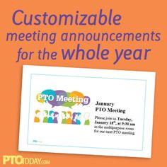 Fun and free printable template for announcing meetings.