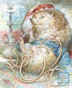 Hedgehog with Hookah - Every Day Original
