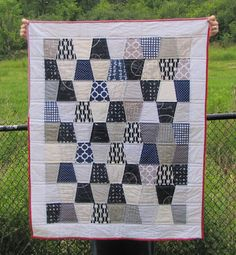 buttons quilts: Nautical: A Finished Baby Quilt