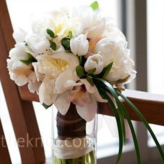 Wedding Flower Bouquet White Tulip Peony