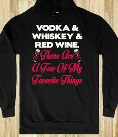 Ha!  I have been searching cocktails and singing everything I'm searching to the tune of My Favorite Things, this jacket pretty much sums it up!