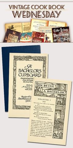 """""""A Bachelor's Cupboard"""" from 1906 in PDF"""