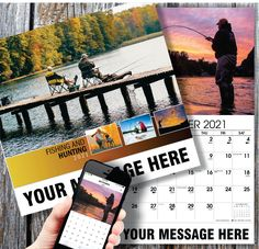2021 Hunting and Fishing Wall Calendars - low as Personalized with your Business, Organization or Event Name, Logo and Message. Calendar App, Print Calendar, Yearly Calendar, 2021 Calendar, Hunting Calendar, Date Squares, Us Holidays, Post Ad, Advertise Your Business