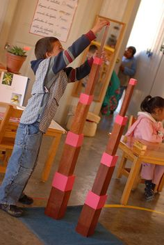 Neat way to do the brown stair and the pink tower!  Add on lesson??  montessori by hand