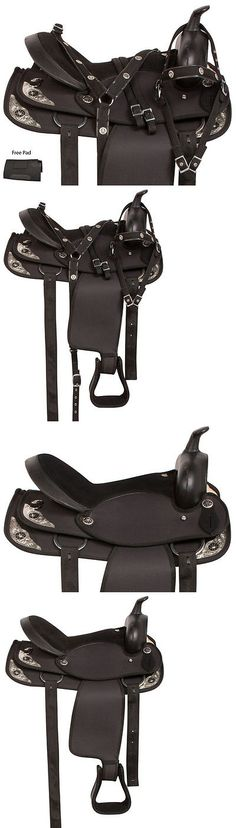 Saddles 47291: Light Weight 14 15 16 17 18 Black Trail Horse Western Pleasure Saddle Tack Pad -> BUY IT NOW ONLY: $142.49 on eBay!