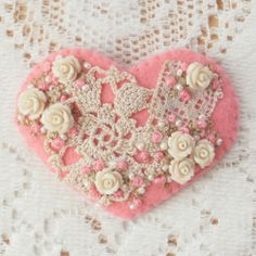 pinterest beaded felt projects | This has not only beads and embroidery but also some small vintage ...