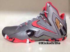 sale retailer e61df 184aa nike lebron xi elite grey black red 0 570x427 Nike LeBron XI Elite – Grey –