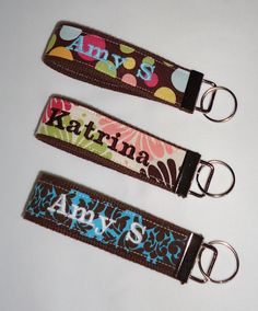 personalized key fob. ive become a huge fan of the key fob recently.