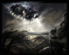 Wild Hunt of Wotan Fantasy Images, Fantasy Art, Thor, Pagan Festivals, Irish Mythology, Legends And Myths, Dark Gothic, Wild Hunt, Sea Monsters