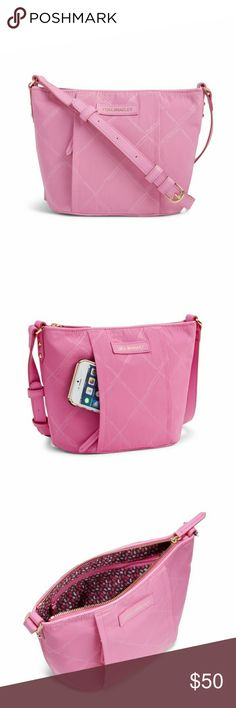 """Vera Bradley Preppy Poly Crossbody Lightweight and water repellant JUST IN TIME for spring and summer.  Exterior zip pocket tucked in behind the front seam. Interior us very roomy with 2 slip pockets and 1 zip pocket. Top zip closure. Step is adjustable with 56"""" drop. Dimensions 8""""W x 7.5""""H x 4.5"""" D. NWT see additional listing for matching wallet. Vera Bradley Bags Crossbody Bags"""