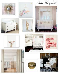white and gold nursery - Google Search