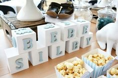 Personalised nursery blocks for the guest of honour