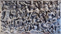 """In 378 AD, Rome completely mismanaged a refugee crisis, and the empire was destroyed.  """"Grande Ludovisi"""" sarcophagus."""