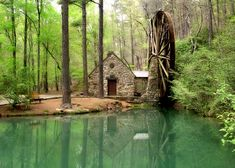 serenity now...Old mill at Berry College in Rome, Georgia, USA - by Melissa @ Flickr