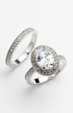 Ariella Collection Silver Oval Engagement Wedding Rings    LFF Designs   www.facebook.com/LFFdesigns