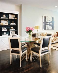 Shining Glass Dining Room Table  -  Whenever a person walks into a room and their eyes are irresistibly drawn to the shining star of the dining room, the glass dining room table. A glass...