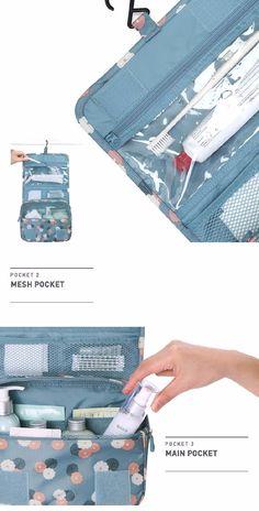 Favorable Waterproof Tidy Wash Cosmetic Bag Compact Makeup Storage Bag Case Bathroom Organizer - NewChic Mobile
