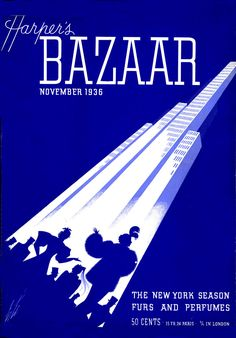 Erte for Harper's Bazaar 1936. One big line, many supporting elements. I love how he did such harmonious work.