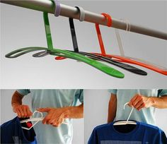 Fantastic and definitely need. Finally, I won't have to worry about stretching my shirts. Any creative hangers for pants? Pant Hangers, Clothes Hanger, Tech Gadgets, Cool Gadgets, Invention And Innovation, Weird Inventions, Hanging Art, Cool Items, Mind Blown
