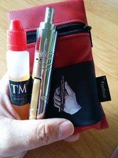 Red Silok pouch V1.5 with logo
