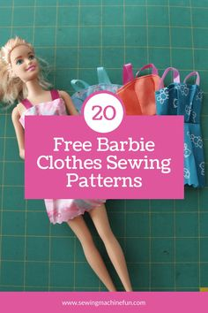 20+ Free Printable Barbie Doll Clothes Patterns to Sew Sewing Barbie Clothes, Barbie Sewing Patterns, Barbie Dolls Diy, Doll Dress Patterns, Sewing Dolls, Sewing Patterns Free, Diy Ken Doll Clothes, Diy Doll Clothes Patterns, Dolls Dolls