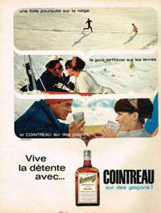 Publicite Advertising 064 1965 Cointreau Digestif |  Love this classic vintage poster. I always think of drinks like  these harkening back to a classier time!