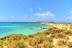 Elafonisi Beach, Kreta, Grekland