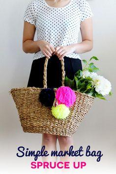 Simple Market Bag Spruce Up