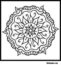 See 6 Best Images Of Art To Color Printable Inspiring Mandala Coloring Pages