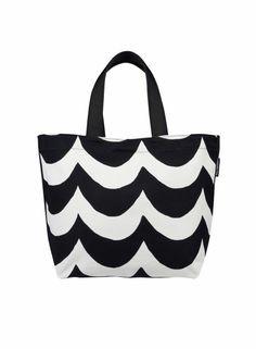 Kaisla-laukku (luonnonvalkoinen, musta) | Laukut, Kassit, Laukut & asusteet | Marimekko