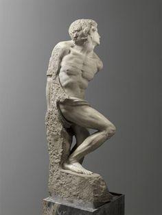 Michelangelo Buonarroti, L'Esclave rebelle | The Rebellious Slave, 1513-1515
