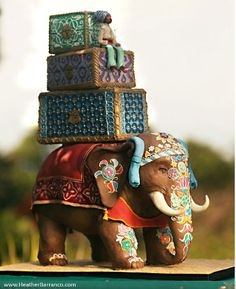 Mouth-Watering Wednesday: Absolutely obsessed with this Indian elephant wedding cake #colorful #beautiful #sweets