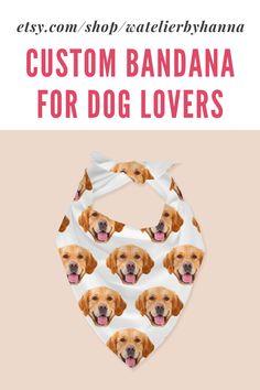 Personalized Photo Bandanas / Custom Face Bandana / Face Pattern Bandana For Dogs / Dog Lover Gift #PetSupplies#PetClothingAccessories Dog Lover Gifts, Dog Lovers, Dog Gifts, Cool Pictures, Cool Photos, Puppy Pictures, Bad Photos, Cute Dogs Breeds, Dog Bandana