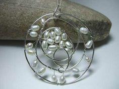mandala style pearl feature pendant