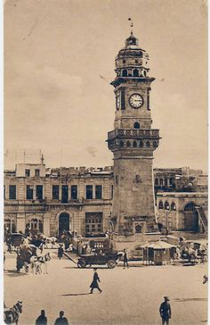 A rare photo of Bab El Faraj Square, 1924 from the French Archive, Aleppo Syria Before And After, Aleppo City, Naher Osten, Islamic Architecture, This Is Us Quotes, Historical Pictures, Damascus, Middle East, Old Photos