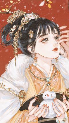 Manga Girl, Anime Art Girl, Manga Anime, Cabelo Rose Gold, Character Art, Character Design, Anime Angel, Anime Kawaii, Chinese Art