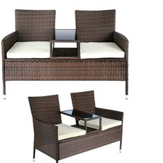 Two Seater Rattan Garden Furniture Outdoor patio furniture set 2 seater black rattan sets backyard pool outdoor patio furniture set 2 seater rattan garden sets table chairs cushions workwithnaturefo