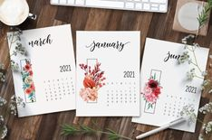 Floral 2021 Calendar Printable - World of Printables Free Calendar, 2021 Calendar, Print Calendar, Calendar Design, Monthly Planner Printable, Printable Calendar Template, Free Prints, Printables, Bouquets
