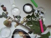from teachpreschool.org  So many fun activities and ideas on this site. Science and Nature