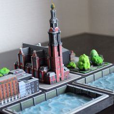 Collectable Miniature Westerkerk model from the Amsterdam set by Ittyblox Architectural Scale, Model Train Layouts, Cityscapes, Model Trains, Scale Models, Amsterdam, Miniatures, Architecture, Arquitetura