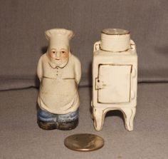 Vintage Chef Icebox Salt and Pepper Shakers Go With | eBay