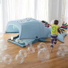 Giant Whale Playhouse Tent. Such a fun idea for the kids room for lots of under the sea pretend play.