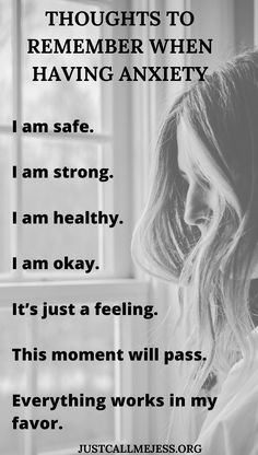 Affirmations and thoughts to remember when having a panic attack, anxiety attack or anxiety. Home Remedy For Cough, Cold Home Remedies, Cough Remedies, Herbal Remedies, Anxiety Tips, Anxiety Help, Stress And Anxiety, Mantras For Anxiety, Affirmations For Anxiety