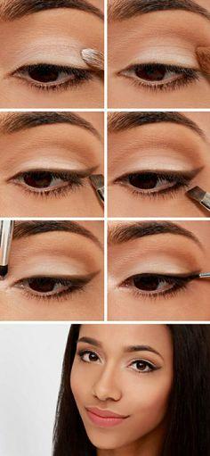 Pas à pas maquillage yeux marrons