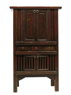 Tall Cabinets Brown Cage Style 3 Drawers 4 Doors