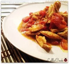 Pollo al curry con peperoni